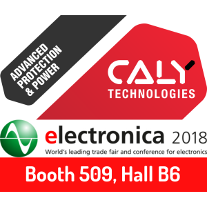 CALY Technologies at Electronica 2018, Munich, November 13-16. Booth B6.509