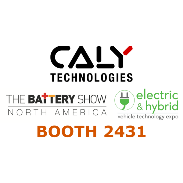 CALY Technologies at The Battery Show, September 10-12, Novi (MI)